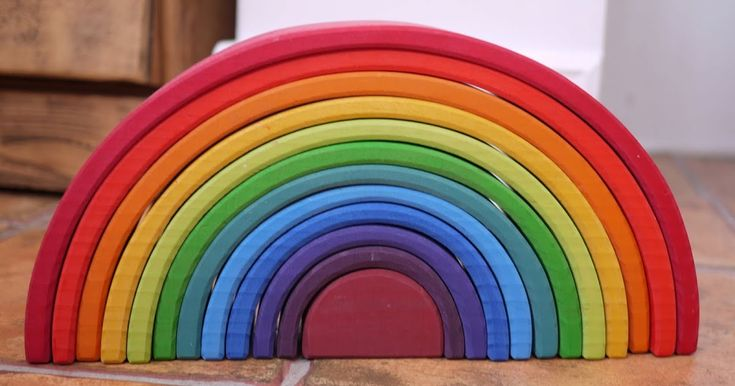 I love this rainbow stacker from Grimm's. No, really. It makes my heart sing and I intend to own it for the rest of my days. Ostensibly ...