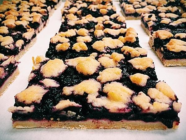 Blueberry pie bars with a tangy lemon cookie crust  http://greatideas.people.com/2014/04/11/coachella-2014-food-nachos-pie-recipes/
