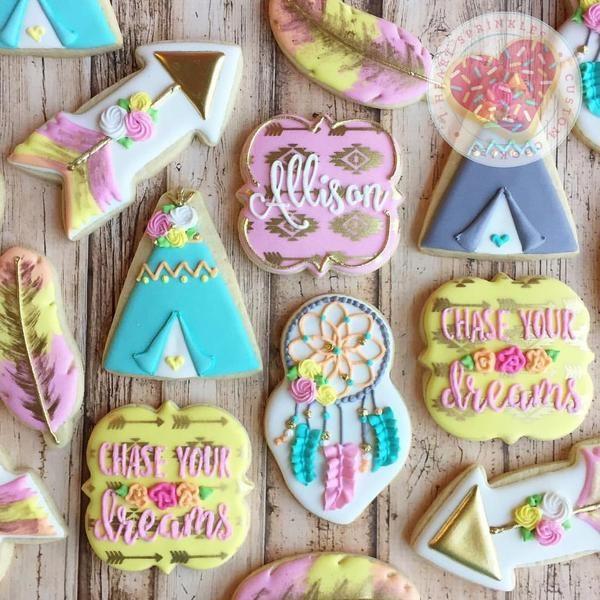 Southwestern Boho Teepee Arrow Cookie Cutter Set