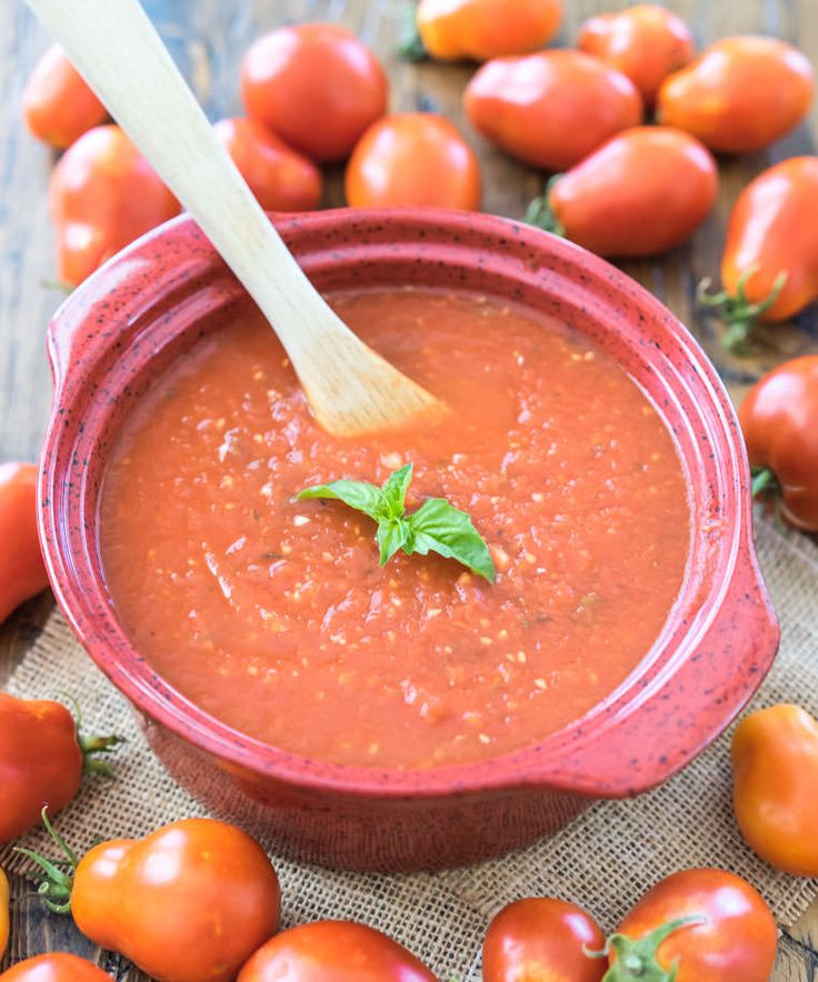 Homemade Marinara Sauce Recipe | One Ingredient Chef