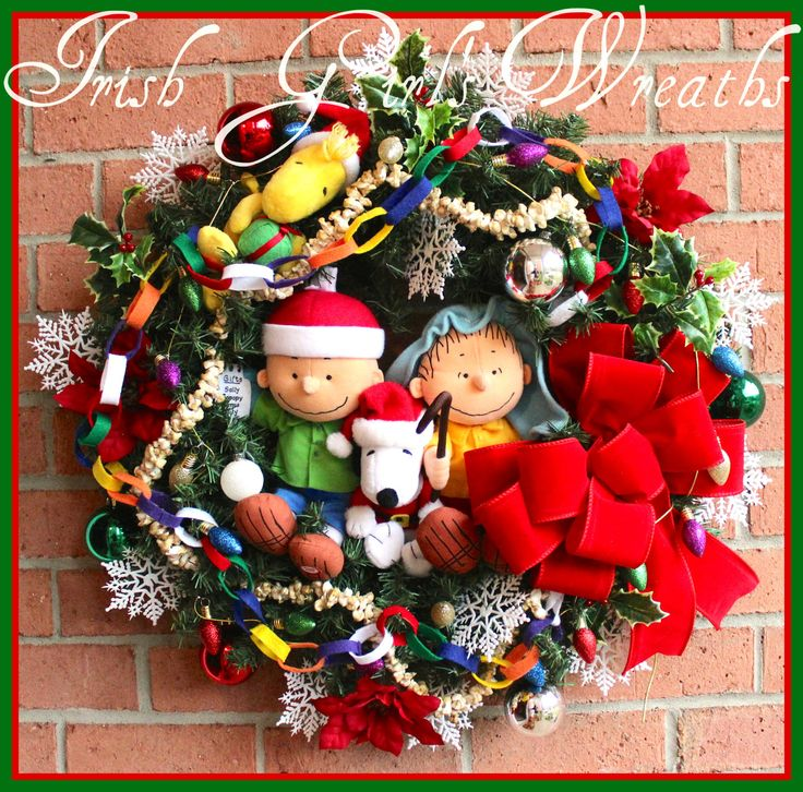 93 best Peanuts Charlie Brown Wreaths images on Pinterest - charlie brown christmas decorations