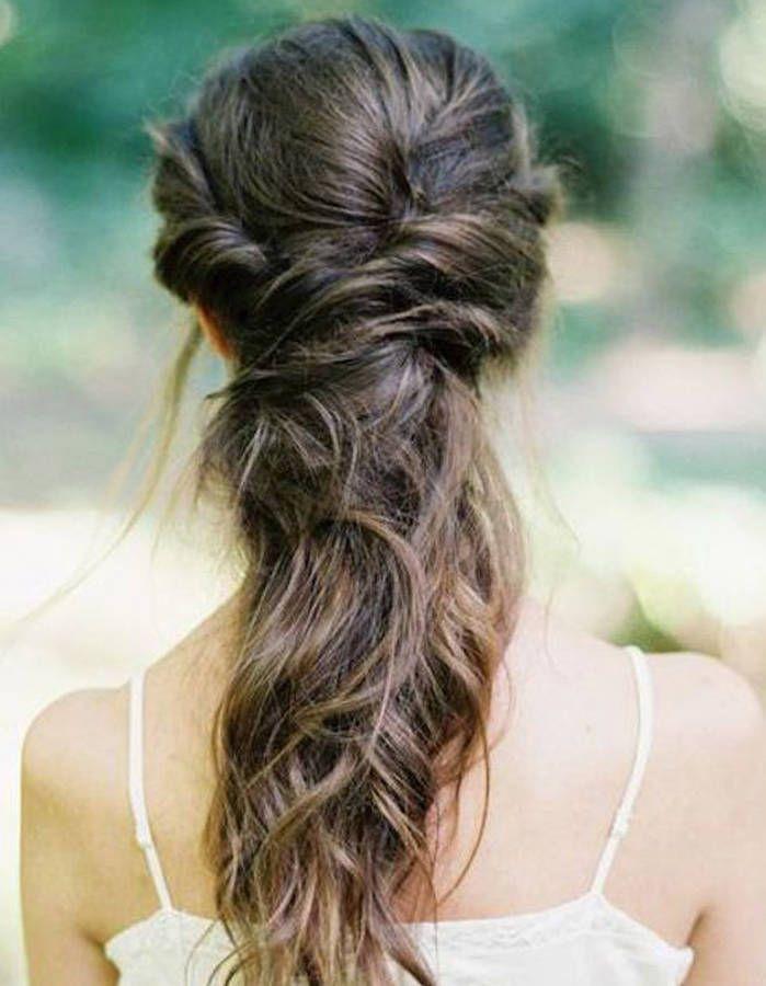 Demi couronne coiffure romantique pour cheveux longs - Pinterest coiffure femme ...