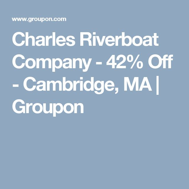 Charles Riverboat Company - 42% Off - Cambridge, MA | Groupon
