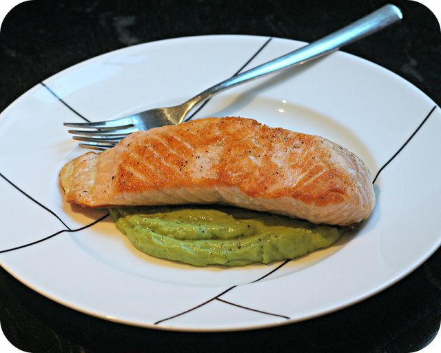 out of my pan seared salmon with avocado remoulade pan seared salmon ...