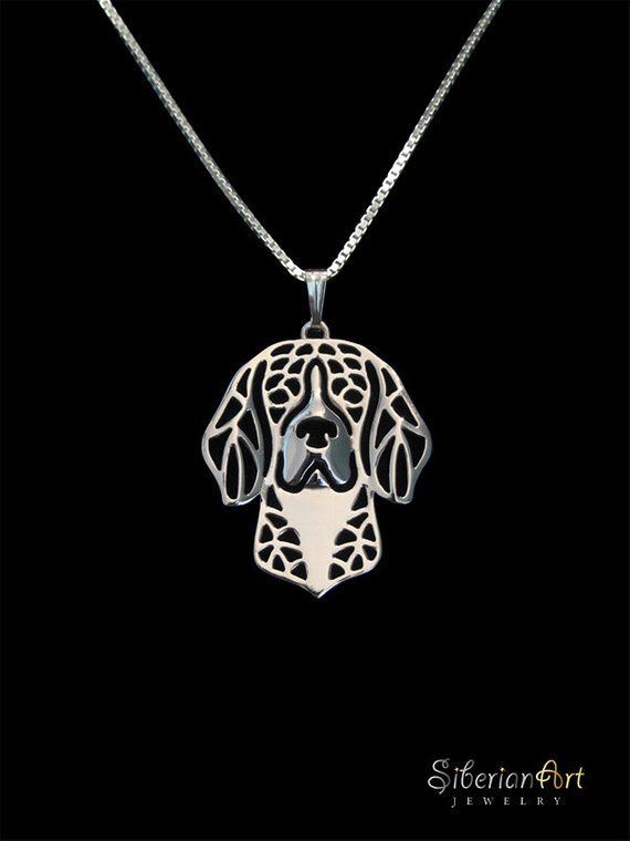 Beagle Jewelry Sterling Silver Pendant And Necklace Sterling