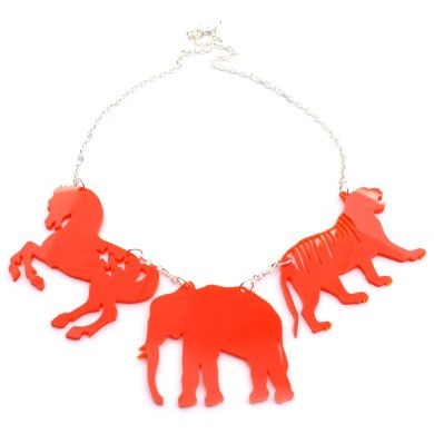 Circus animal necklace