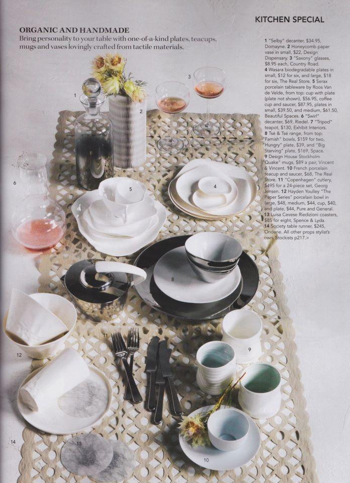 Paper Series featured in Australian Gourmet Traveller, 2012