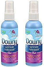Downy wrinkle releaser for your formal outfit on cruise elegant evening and other cruise outfits. No iron, no problem! Get rid of wrinkles with a spray for wrinkle-free clothes or darn close! So make sure to put it on your cruise packing list! Cruise tips, cruise hacks.
