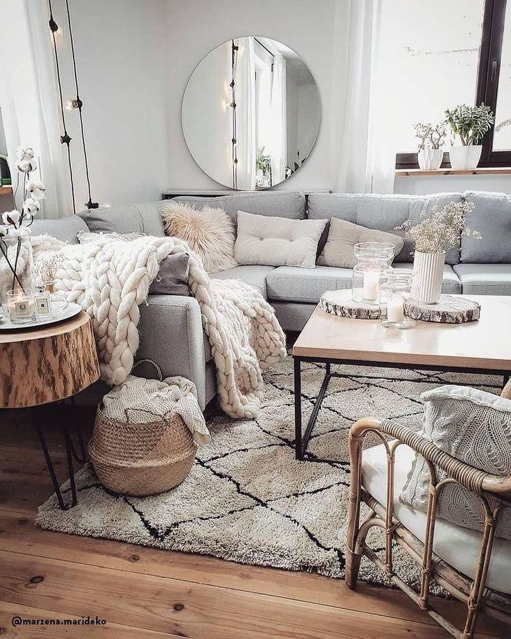 17 Deko Ideen zu Gunsten von Ihr graues Wohnzimmer #graues ...