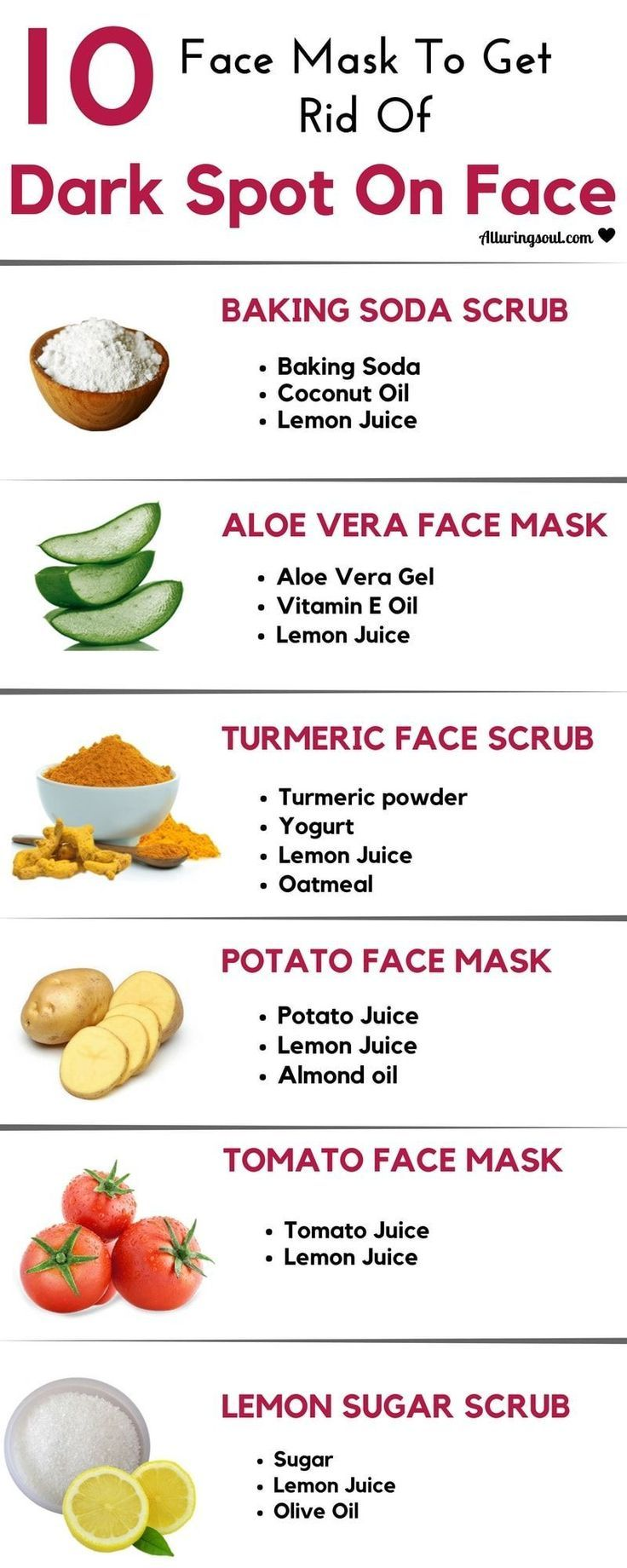 Remedies to remove dark spots on face
