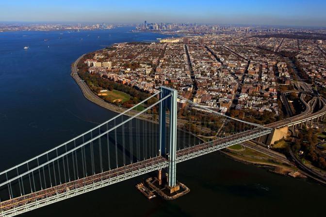 New York City Marathon on Ponte di Verazzano