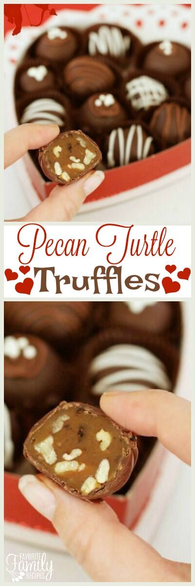 Pecan Turtle Truffles are a decadent chocolate caramel treat. They look and taste like chocolate truffles from an expensive candy store. via @favfamilyrecipz
