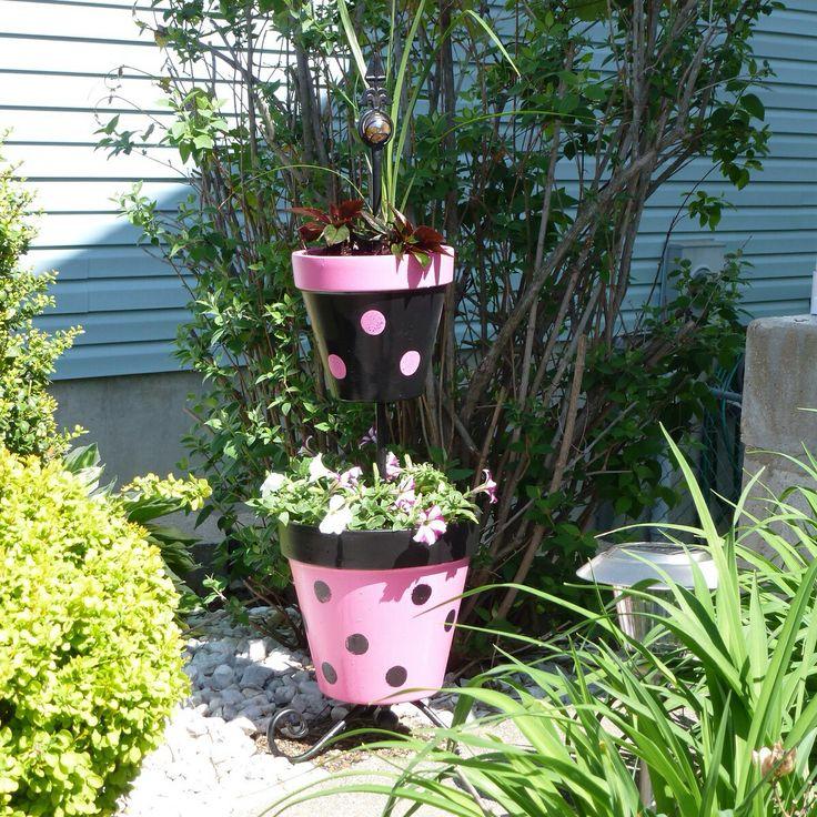 Flower Pot Art, Painted Clay Pots, Flower Pot