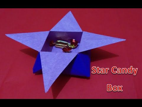 Origami Star Candy Box Tutorial - Mother's Day Best Gift