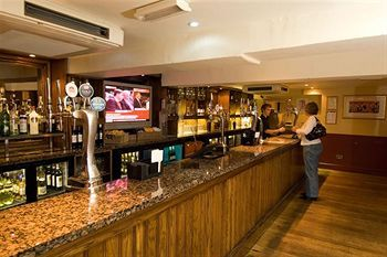At swan hotel Stafford the Baltic brown countertop makes it look attractive to customers.