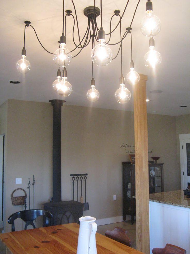 edison bulb chandelier lights brushed nickel lowes