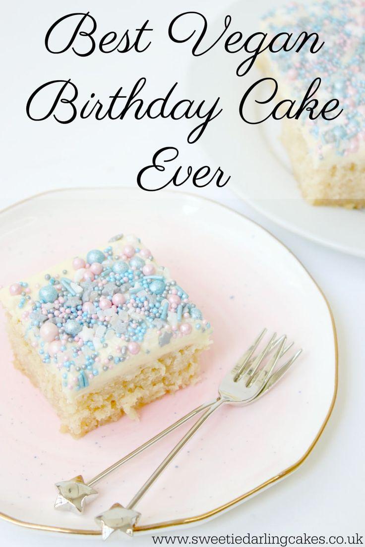Legit the best vegan birthday cake I have ever tried! A sweet, light, fluffy vegan vanilla cake that even non-vegans will love!