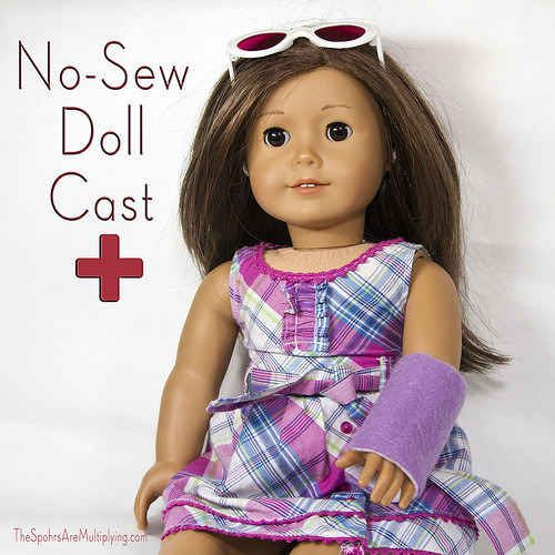Arm Cast | 39 American Girl Doll DIYs That Won't Break The Bank