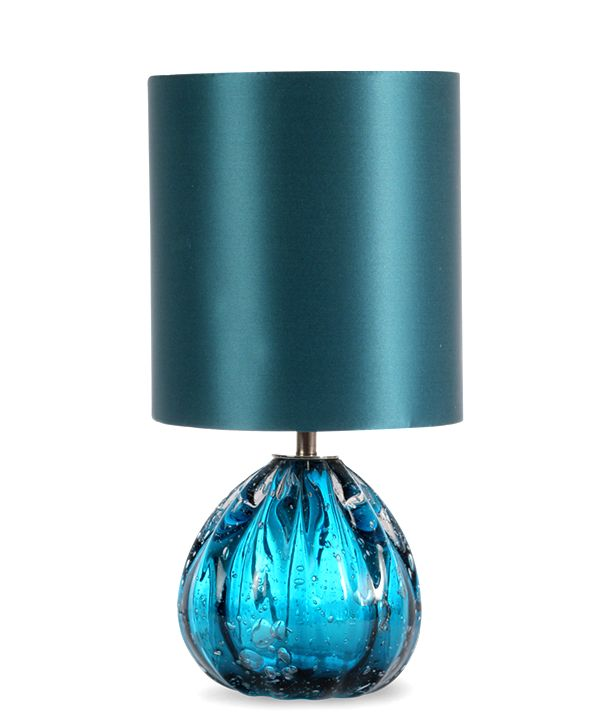 Luxe Turquoise Art Glass Lamp Enjoy & Be Inspired More Beautiful Hollywood Interior Design Inspirations To Repin & Share @ InStyle-Decor.com Beverly Hills Happy Pinning