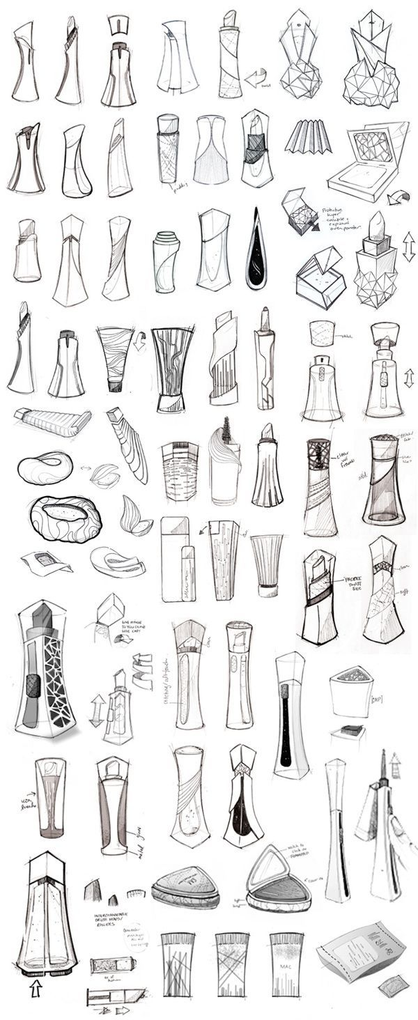 MAC Cosmetics Virgin Galactic by Olivia Paden, via Behance – Good Product Design Sketch