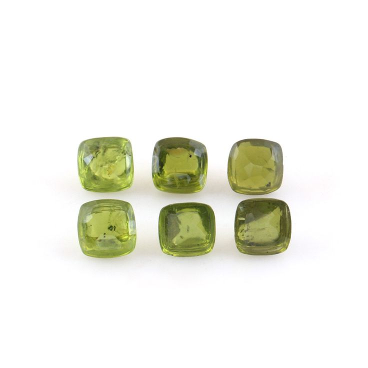 Natural Peridot Buttons - 6 Piece Peridot Button Set - Facetted Peridot Buttons by TRUTHFINEJEWELLERS on Etsy