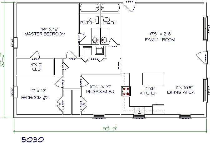30x50 Barndominium Plans Joy Studio Design Gallery