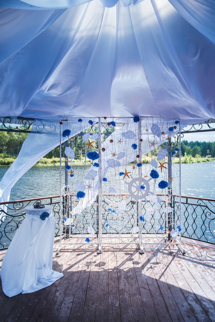 Свадебное оформление в морской тематике
