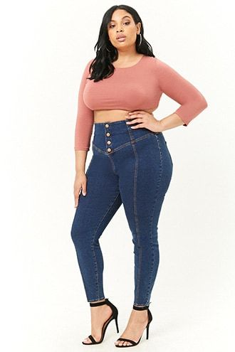 bc864f1823 Plus Size High-Rise Skinny Jeans