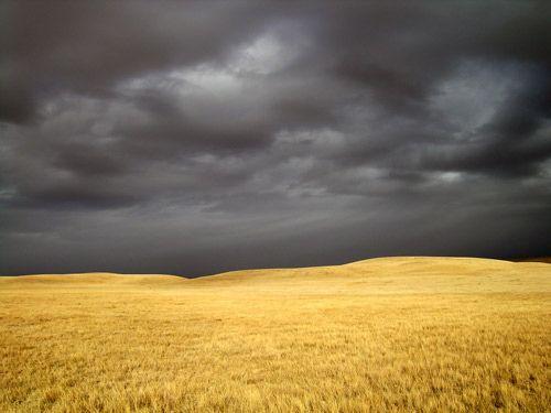 South Dakota Prairie.. Where some of the most hauntingly dark clouds exist.    Prairie Sky by Sir Realist, via Flickr