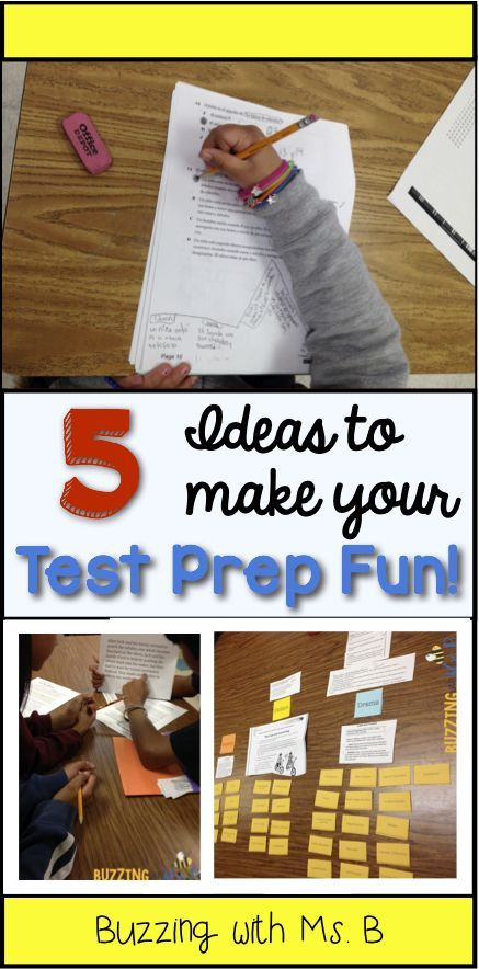 Buzzing with Ms. B: Five Ways to Keep Test Prep Fun! I really like the ideas for stations/sorts - students may not even realize that they are reviewing for the test since these activities are all games!