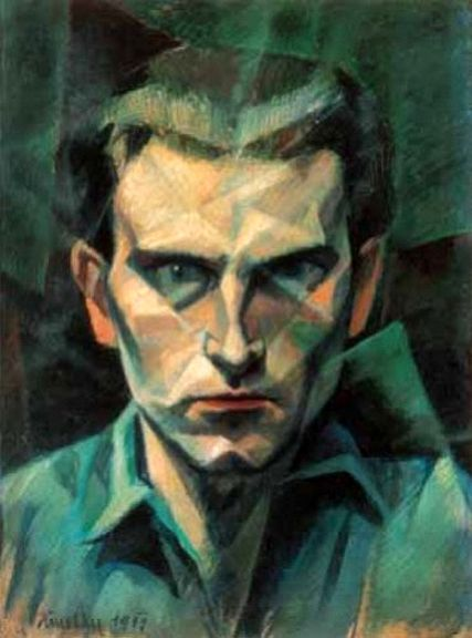 János Kmetty, Self Portrait, 1911. Kieselbach Auctions #art #midCenturyArt