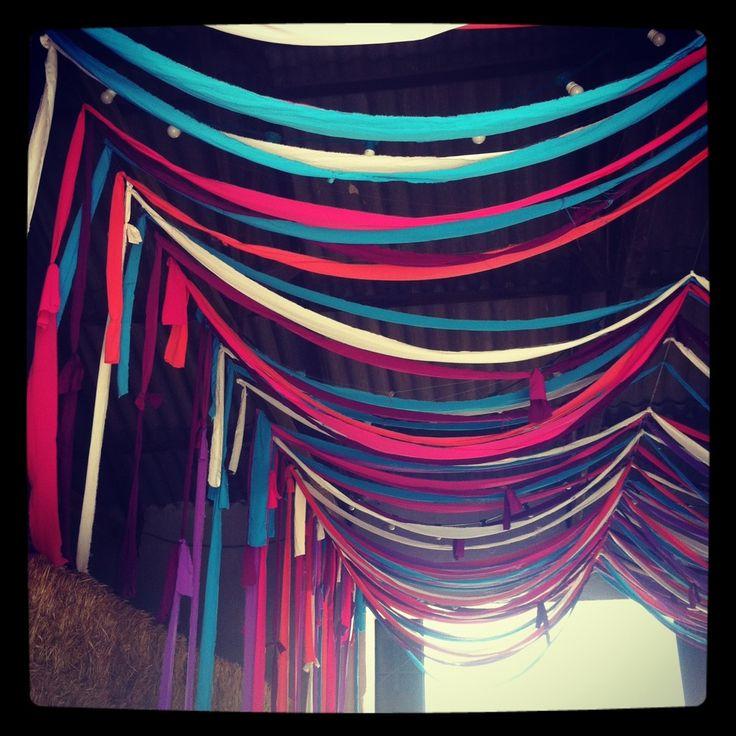 Decoracion En Telas Paso A Paso ~ guirnaldas de telas de colores  ideas para bodas  Pinterest