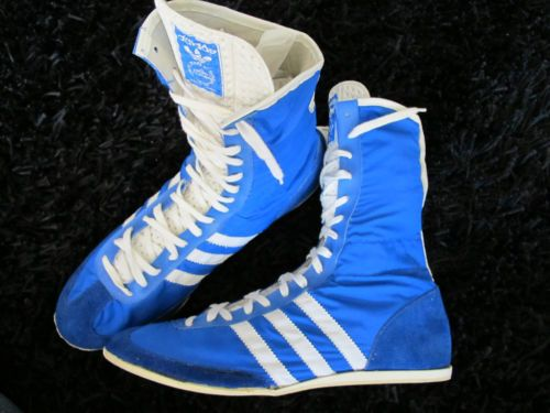 If these were all my size I'd be bidding heavily, but sadly they're not. So why not put your bids in for these vintage adidas boxing boots o...
