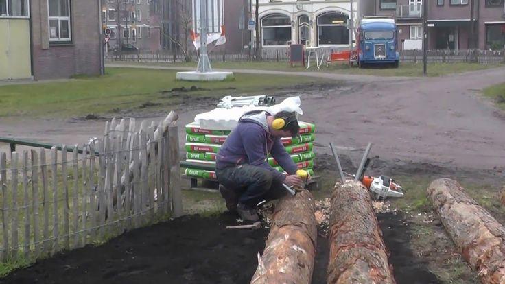 NLdoet op 11 maart 2016 (Groen Verbindt Programma Oranjefonds). Maken van banken t.b.v. het Stadspark Haven Centrum te Apeldoorn.