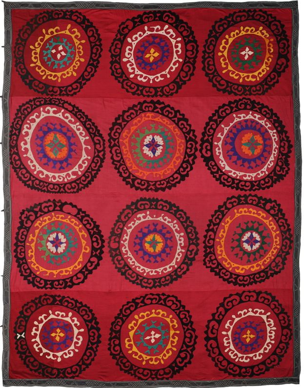 From the new collection of Suzani textiles based on fabrics from the late 18th and early 19th centuries