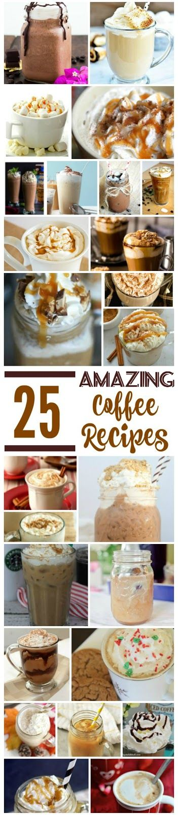 Coffee Recipes, 25 Amazing Coffee Recipes, the best coffee recipes, Hot coffee recipes, iced coffee recipes, National Coffee Day, Copycat Starbucks recipes