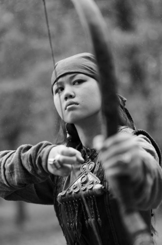 Republic of Kazakhstan - Kazakhs Peoples - ✿ ❤ Girl with Bow, Kazakhstan 2013 Photo by Sasha Gusov. The Kazakhs are descendants of the Turkic and medieval Mongol tribes. https://en.wikipedia.org/wiki/Kazakhs