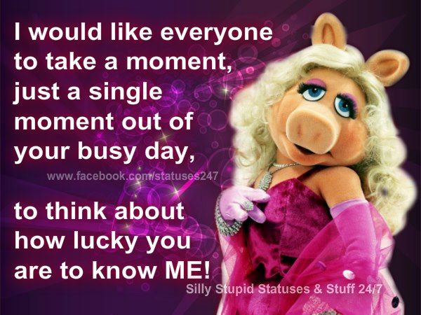 ;) Miss Piggy Love her and I'd like to thank my fans, my followers! LOL!