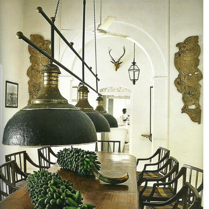 Love this British colonial style dining area
