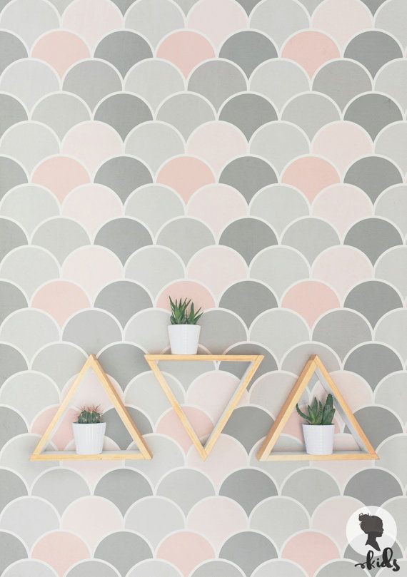 Scallop Kids Bedroom Wallpaper Removable Or Non Woven Material And Washable
