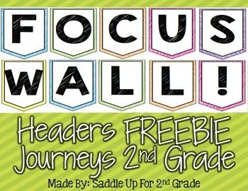 These headers are to create a focus wall for the 2012 Journeys curriculum.They…