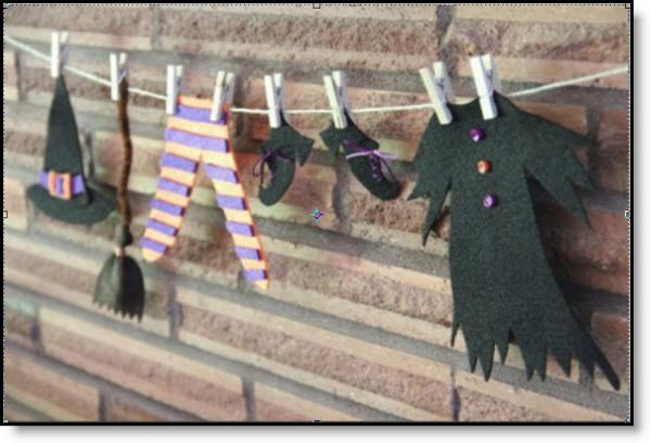 Witch's Laundry ♥ http://felting.craftgossip.com/2014/09/17/halloween-felt-witchs-laundry-day-tutorial-and-pattern/