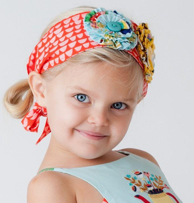 Tea & Kitties Red Headband or Sash