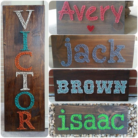 String art names   customizable by HeartStringsbyMeg on Etsy