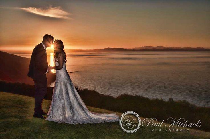Sunset at Boomrock wedding. New Zealand #wedding #photography. PaulMichaels of Wellington www.paulmichaels.co.nz