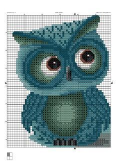 Lovely free owl cross stitch pattern!