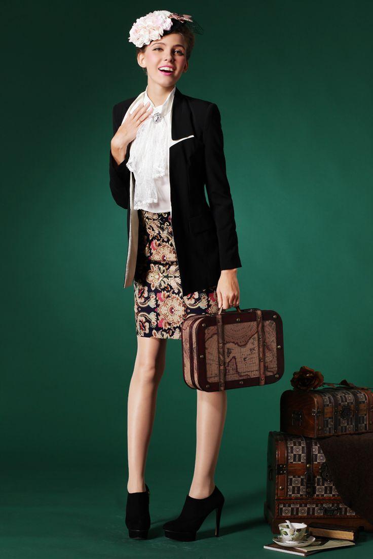 Узкая винтажная юбка выше колена с чем носить, где заказать   The life of one redhead