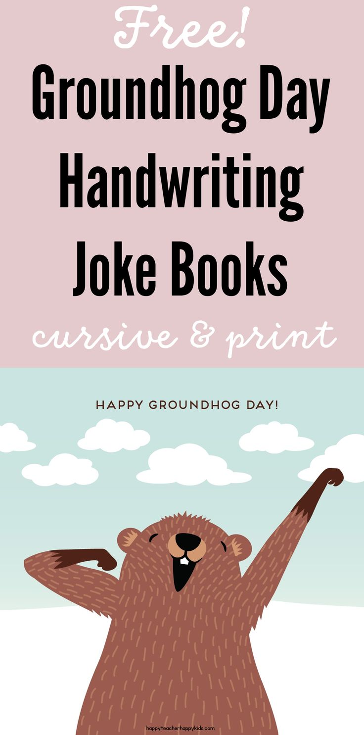 Uncategorized Groundhog Day Stories 109 best groundhog day images on pinterest facts freebie cursive print handwriting joke books