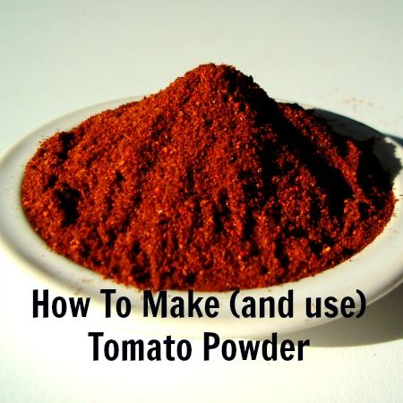 Next time you can tomato sauce, don't toss those peels or pulp. Here's how to make tomato powder from them, and how to use the powder, too. It's easy!