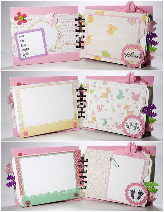 Baby Girl Scrapbook Mini Album Premade Sweet by ScrapbookGallery, $25.00